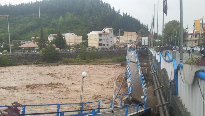 وضعیت بحرانی شهرستانهای گیلان در پی جاری شدن سیل