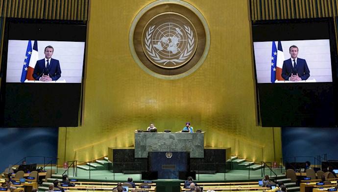 سخنرنی ماکرون در مجمع عمومی ملل متحد