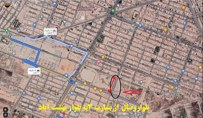 اهواز - بلوار وصال از بشارت ۳ به بلوار بهشتآباد