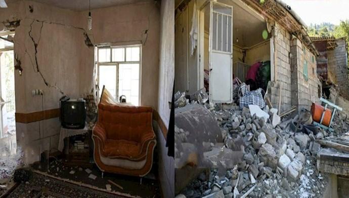 خسارات زلزله رامیان