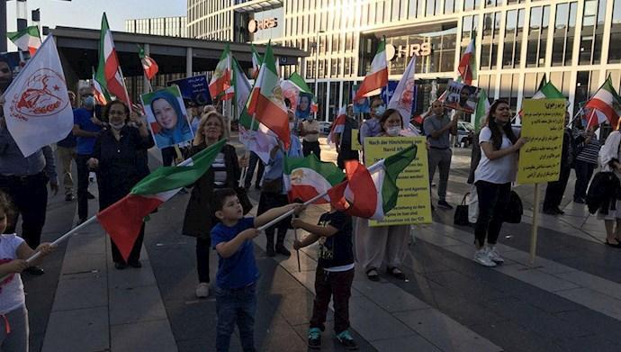 تظاهرات  یاران اشرف نشان و شورشگر در حمایت از مقاومت ایران در کلن