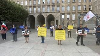 تظاهرات  یاران اشرف نشان و شورشگر در حمایت از مقاومت ایران در بوخوم