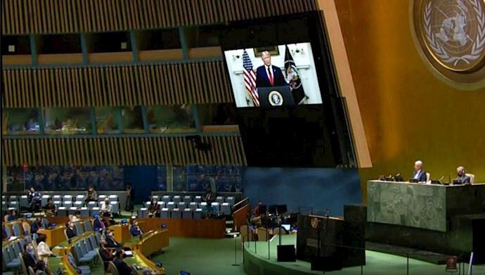 سخنرانی رئیسجمهور آمریکا در اجلاس مجمع عمومی