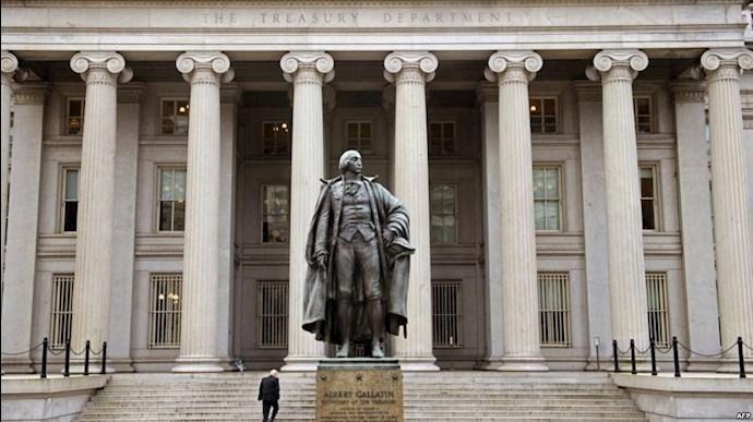 وزارت خزانه داری آمریکا در واشنگتن