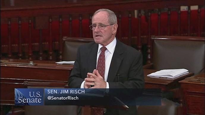 سناتور جیمز ریچ رئیس جلسه استماع کمیته روابط خارجی سنای آمریکا
