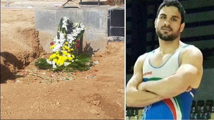 تصویری از مزار نوید افکاری قهرمان ملی قیام