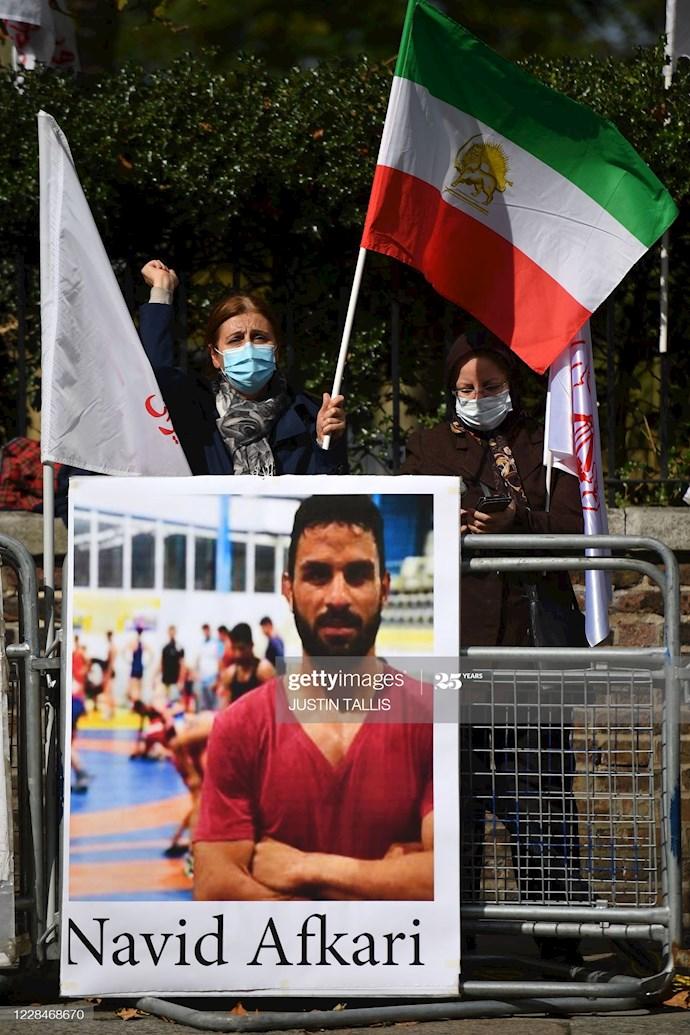 گتی ایمیجز: تظاهرات در لندن علیه اعدام نوید افکاری - 2