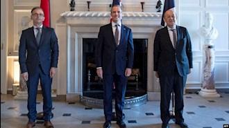 وزرای خارجه آلمان و انگلستان و فرانسه در لندن