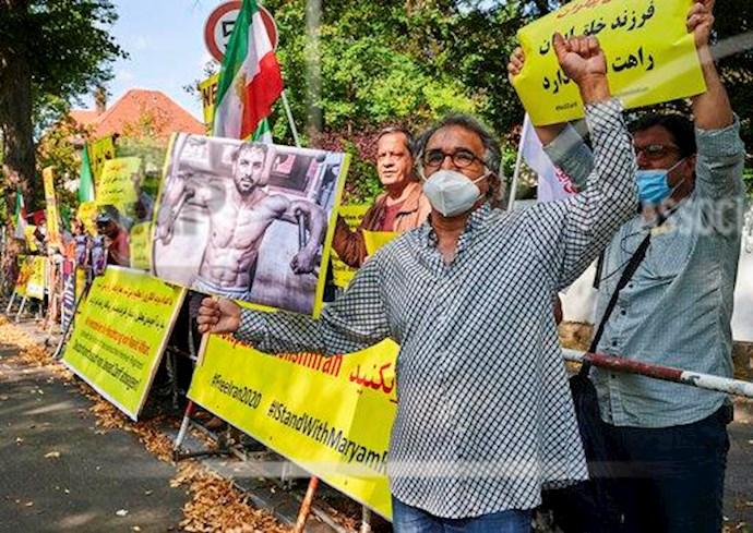 آسوشیتدپرس: تظاهرات در برلین علیه اعدام نوید افکاری - 4