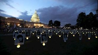 نمایشگاه قتل عام ۶۷ مقابل کنگره آمریکا