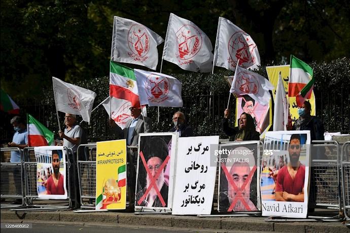 گتی ایمیجز: تظاهرات در لندن علیه اعدام نوید افکاری - 6