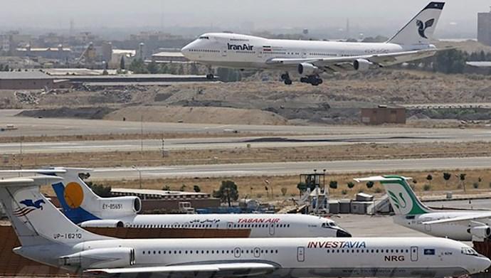 افت ۹۶درصدی مسافران بینالمللی هوایی در ایران