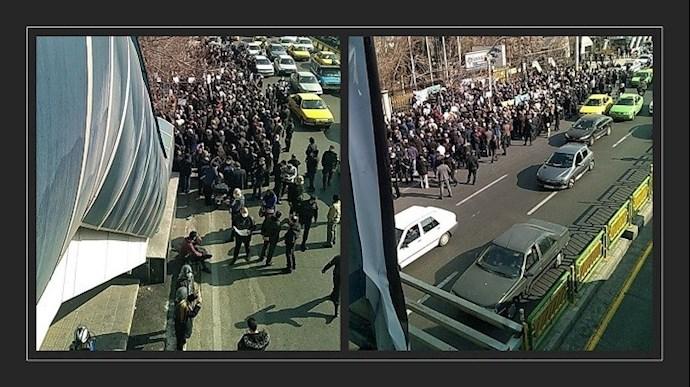 تهران - تظاهرات بازنشستگان در مقابل وزارت کار رژیم - ۷ بهمن ۱۳۹۹