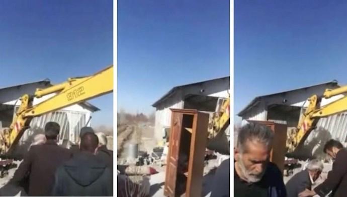 تخریب خانه و باغات مردم محروم در اصفهان