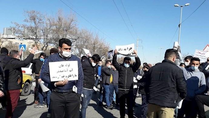تجمع اعتراضی اهالی روستای لات