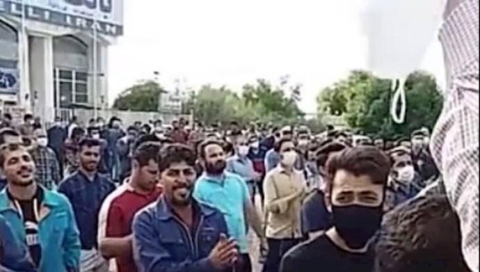 تجمع اعتراضی کارگران نیشکر هفتتپه