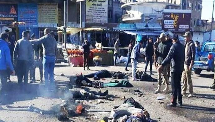 دو انفجار انتحاری در یک بازار پرجمعیت بغداد