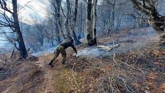 آتش سوزی در جنگلهای گیلان و مازندران