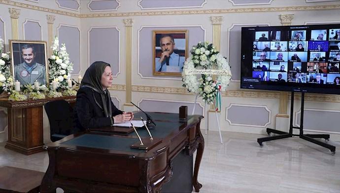 مریم رجوی - بزرگداشت قهرمان ملی، سرهنگ خلبان بهزاد معزی