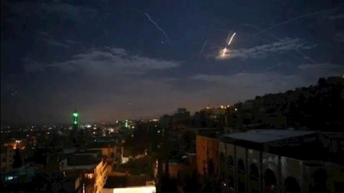 حمله هوایی به پایگاههای رژیم ایران در سوریه
