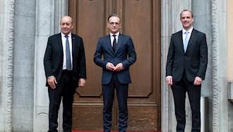 وزرای خارجه سه کشور اروپایی
