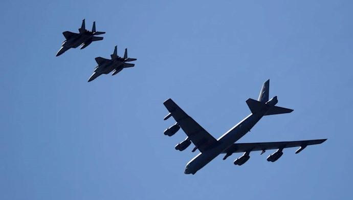 گشتزنی بمبافکنهای بی-۵۲ آمریکا در خلیجفارس