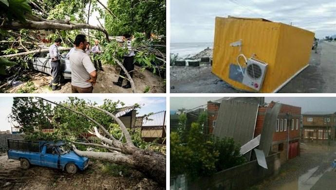 خسارات طوفان در استان گلستان