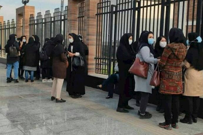 -اهواز.تجمع اعتراضی پرستاران بیمارستان