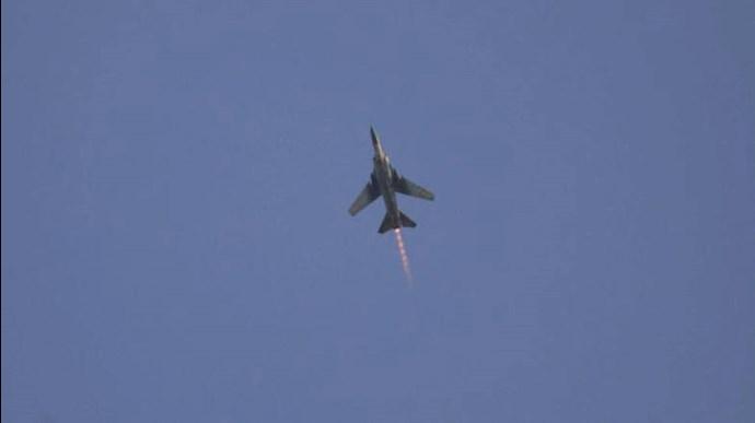 حملات هوایی با مواضع شبه نظامیان رژیم ایران