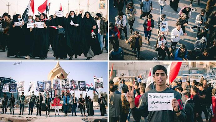 تظاهرات در شهرهای مختلف عراق در اولین روز سال جدید میلادی