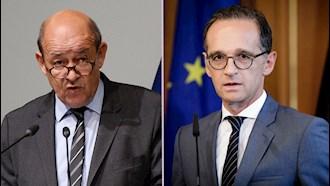 هایکو ماس، وزیر خارجه آلمان - ژان ایو لودریان وزیر خارجه فرانسه