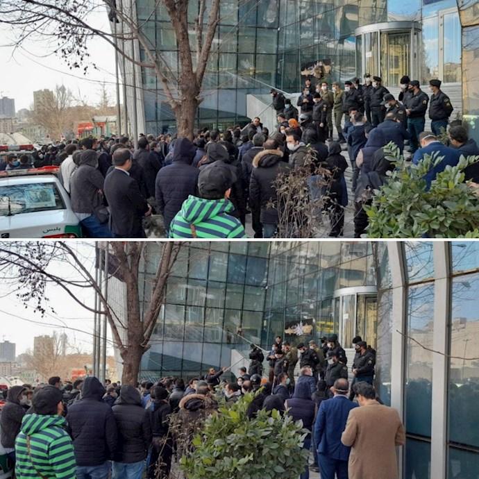 تجمع سهامداران بورس در تهران - ۲۹دی۹۹