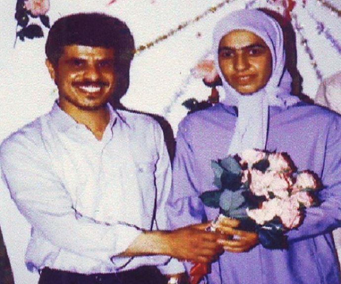 پروین همتی و همسرش مجاهد شهید حسین مؤکدی