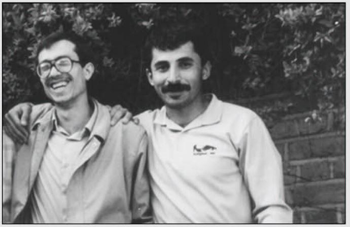 محمود پولچی (چپ) و فرهاد موسی پور (راست- از شهدای فروغ)