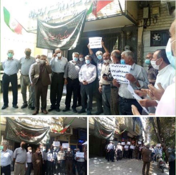 -تجمع اعتراضی بازنشستگان فولاد اصفهان