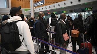 ازدحام مسافران در فرودگاه شارل دوگل فرانسه بدلیل محدودیتهای کرونایی