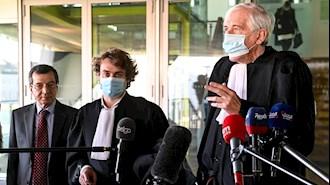 دادگاه آنتورپ بعد از  اعلام حکم دیپلمات تروریست رژیم