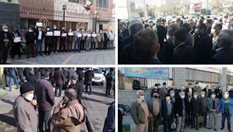 تجمع اعتراضی بزرگ و سراسری بازنشستگان