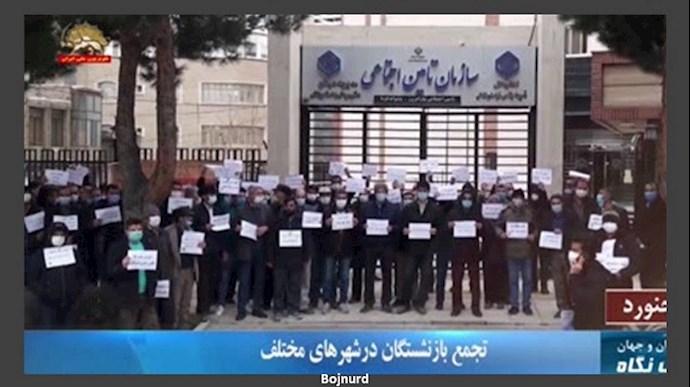 تجمع و اعتراضات سراسری بازنشستگان در ۲۰شهر - سوم اسفند۹۹ - 6