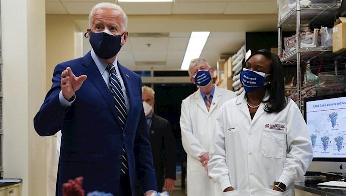 بازدید جو بایدن  از انستیتوی ملی بهداشت آمریکا