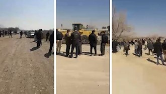 اعتراض کشاورزان شرق اصفهان