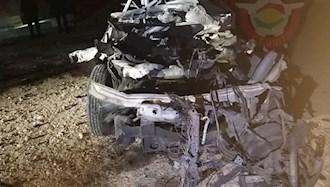 وسیله نقلیه حمل موشکهای فجر ساخت رژیم ایران در حمله موشکی به اربیل در کردستان عراق