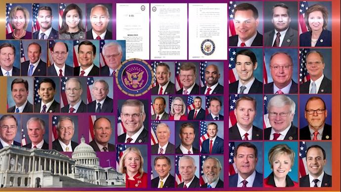 ثبت قطعنامهٔ دو حزبی با ۱۱۳امضا در حمایت از قیام و مقاومت در کنگرهٔ آمریکا