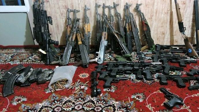 کشف سلاحهای جنگی در دهلران