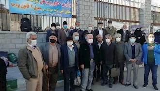تجمع اعتراضی بازنشستگان فولادی و معدنی ، مقابل مجلس ارتجاع - ۳ اسفند۹۹