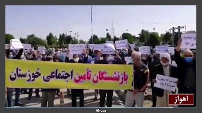 تجمع و اعتراضات سراسری بازنشستگان در ۲۰شهر - سوم اسفند۹۹ - 8