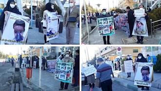 تجمع اعتراضی خانوادههای بیماران SMA