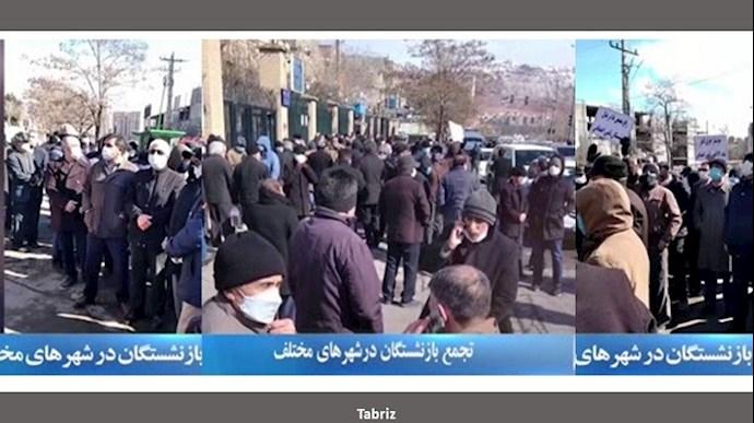 تجمع و اعتراضات سراسری بازنشستگان در ۲۰شهر - سوم اسفند۹۹ - 3
