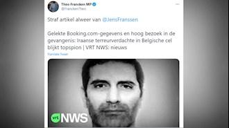 توئیت تیئو فرانکن شهردار و نماینده پارلمان و وزیر سابق پناهندگی و مهاجرت بلژیک