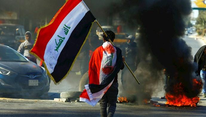 تظاهرات و درگیری قیامکنندگان عراقی در شهرهای مختلف